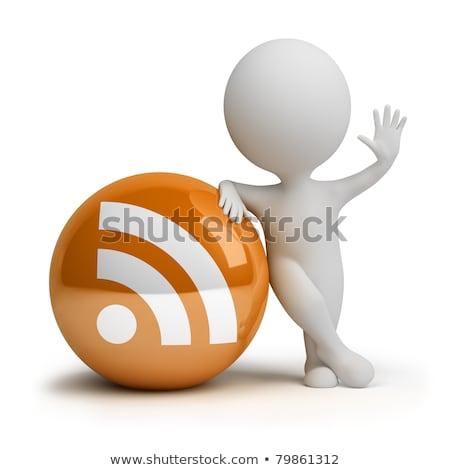 http · protocol · icon · geven · teken · Blauw - stockfoto © oneo2