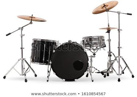 барабан · изолированный · белый · черный · музыку - Сток-фото © ozaiachin