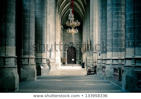Belső katedrális fal ajtó ablak templom Stock fotó © grasycho
