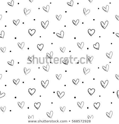 sin · costura · corazones · patrón · textura · del · papel · vector · eps10 - foto stock © robertosch