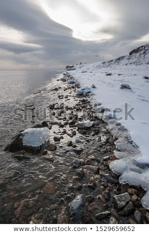Frame bewolkt hemel abstract natuur sneeuw Stockfoto © carenas1