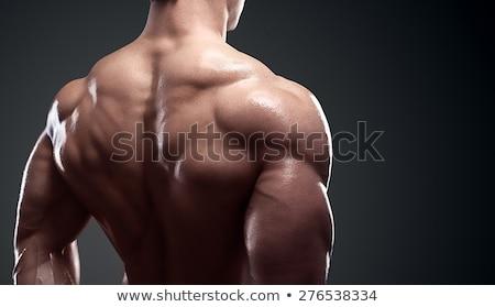 Muscolare indietro uomo isolato nero corpo Foto d'archivio © aetb