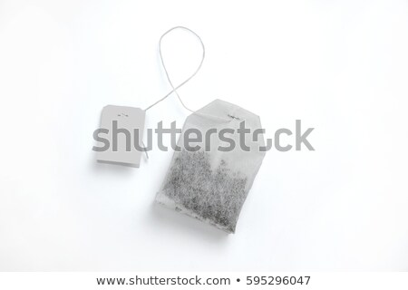 Tea bag with white label  Stock photo © deyangeorgiev