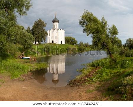 Church on River Nerl Stock photo © Aikon