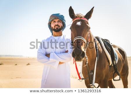 lovaglás · férfi · csődör · képzés · iskola - stock fotó © kyolshin