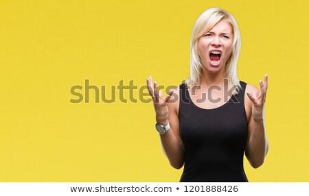 Angry blonde shouting Stock photo © wavebreak_media