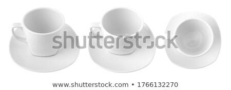 filiżankę · kawy · spodek · łyżka · kolor · wektora · energii - zdjęcia stock © dvarg