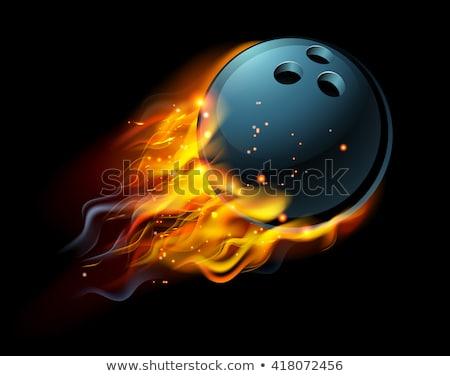 bowling · grev · 3d · render · gölgeler · yansıma · spor - stok fotoğraf © lightsource