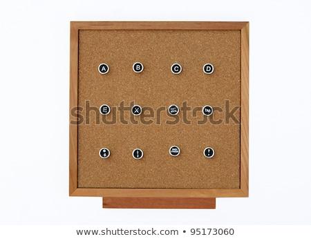 klasszikus · írógép · kulcs · ábécé · tele · kulcsok - stock fotó © tashatuvango