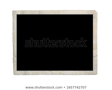 old photo frame isolated on white Stock photo © sqback
