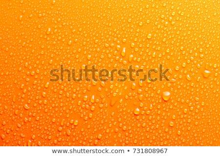 空気 バブル オレンジ色の背景 透明な 表面 水 ストックフォト © stoonn