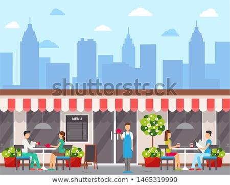 カフェテリア 空 市 レストラン にログイン ストックフォト © zzve