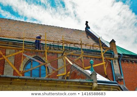 église · toit · eau · ville · vert · Voyage - photo stock © janhetman