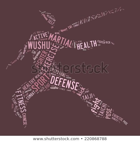 Wushu word cloud with pink wordings Stock photo © seiksoon