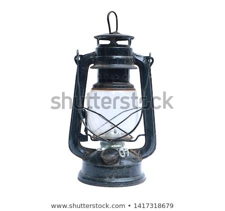 velho · metal · Óleo · lâmpada · cadeia - foto stock © c-foto