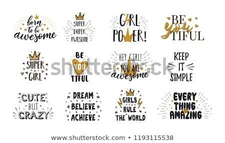 Szett motivációs idézetek tipográfiai hátterek kalligrafikus Stock fotó © maxmitzu