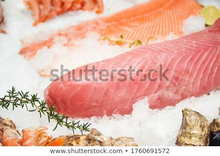 свежие лосося тунца филе красный мяса Сток-фото © elxeneize