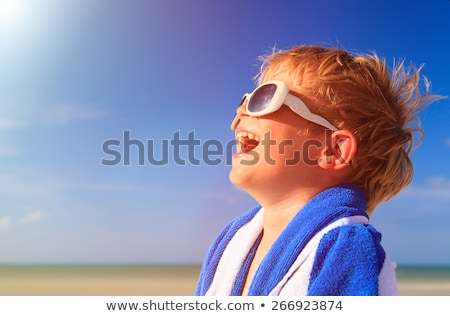 young boy enjoying the sea stock photo © mady70
