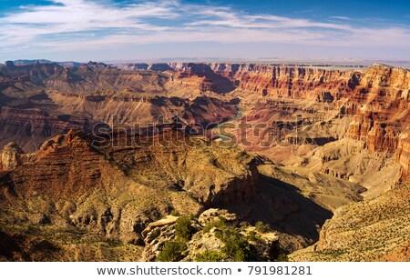 Ver Grand Canyon aldeia pôr do sol luz montanha Foto stock © meinzahn