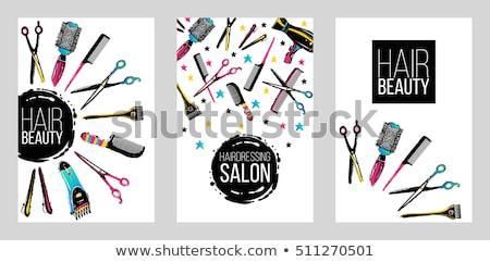 Professionnels salon flyer modèle modèle fond Photo stock © rioillustrator