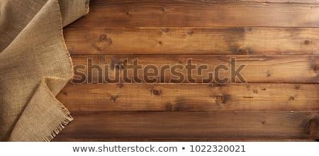Zsákvászon zsák háttér mintázott barna bézs Stock fotó © zhekos