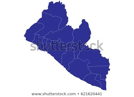 Mapa Libéria 3D forma azul Foto stock © NiroDesign