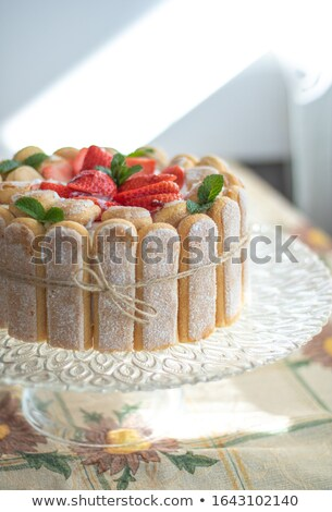 cake charlotte with strawberry Stock photo © M-studio