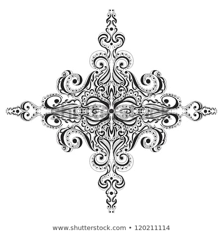 Natale · decorativo · pizzo · ornamento · design · neve - foto d'archivio © elenapro