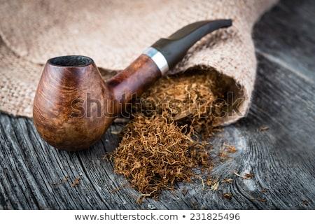 dohány · cső · piros · fából · készült · izolált · fehér - stock fotó © montego