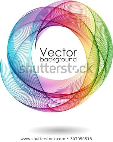 background with rainbow ellipses stock photo © marinini