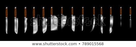 barbekü · bıçak · ayarlamak · mutfak · araçları · beyaz - stok fotoğraf © karammiri