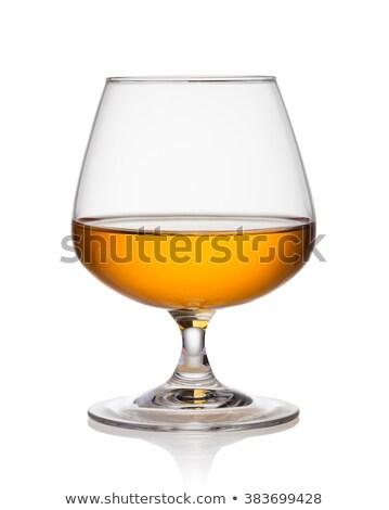 Conhaque vidro isolado branco festa vinho Foto stock © tuulijumala