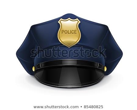 Politie hoed geïsoleerd witte Stockfoto © gemenacom