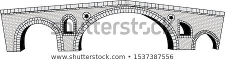 stone bridges vector illustration Stock photo © Slobelix