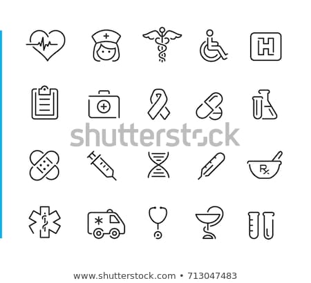 Tıbbi semboller ayarlamak bilim yılan bakım Stok fotoğraf © lindwa