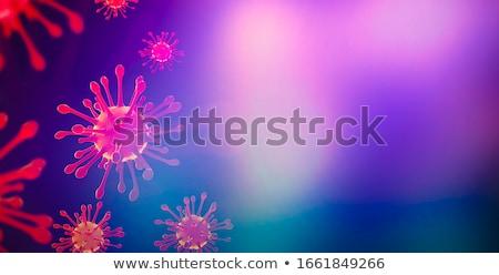 Virus bloed gerenderd illustratie medische dood Stockfoto © dengess