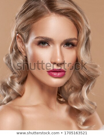 Blonde with lipstick Stock photo © Novic