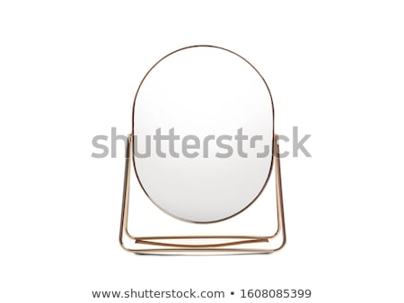 Gold makeup mirror Stock photo © magraphics