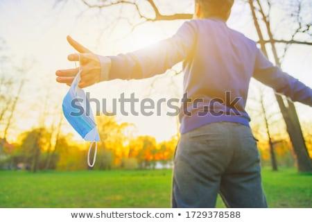 Stockfoto: Stop Killing Concept On Open Hand
