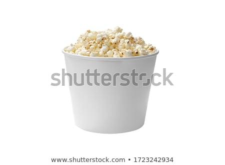 Stock fotó: Pattogatott · kukorica · vödör · piros · citromsárga · fehér · étel