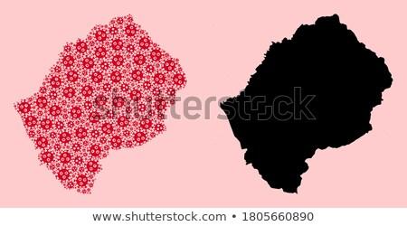 Pokaż Lesotho inny symbolika biały świat Zdjęcia stock © mayboro1964