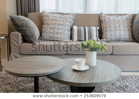 Vintage apartment furnished, living room Stock photo © alexandre_zveiger