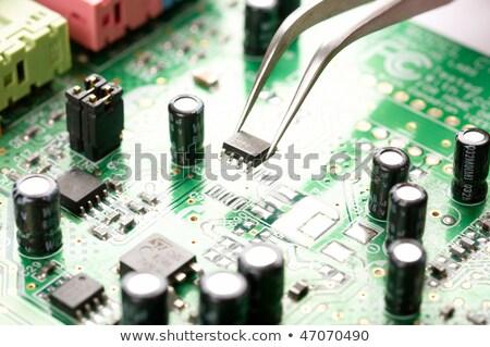 assembly repair tweezers Stock photo © OleksandrO