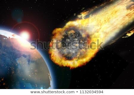 Flaming terre illustration ciel monde résumé Photo stock © alinbrotea