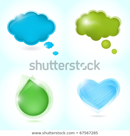 Cartoon Rain Cloud With Thought Bubble Stock fotó © mcherevan