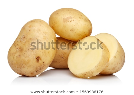 cut potato isolated on white background stock photo © borysshevchuk