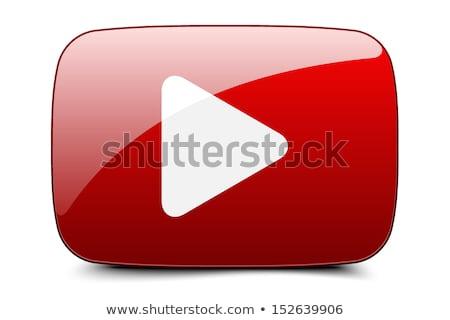 Baixar vídeo vermelho vetor ícone botão Foto stock © rizwanali3d