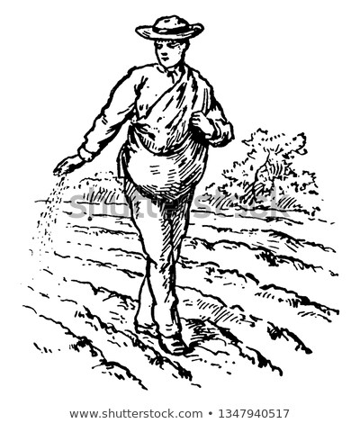 Vintage Seed Sower Stock photo © rghenry