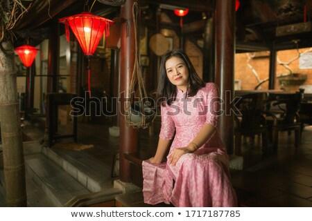 Gorgeous girl in traditional Vietnamese clothing Stock photo © smithore