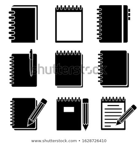 expedíció · napló · kézzel · írott · ceruza · papír · notebook - stock fotó © ozaiachin